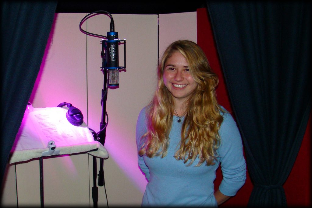 Eryn in the Vocal Booth