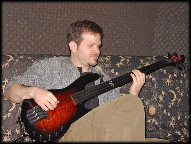 Bass player Nick Donato stopped by for a session
